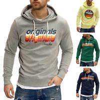 Jack & Jones Herren Hoodie Kapuzenpullover Print Pullover Sweater Casual Modern