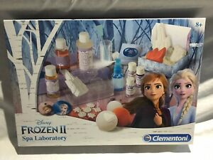 Disney FROZEN 2 SPA LABORATORY SET Beauty Lab Cosmetics Experiments Clementoni