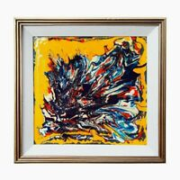 William Ronald (CAN/NY 1926-1998) O/B Abstract 1988 Signed, Painters Eleven
