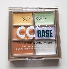 Sunkissed CC Flawless Base Colour Correcting Concealer Palette Green Purple