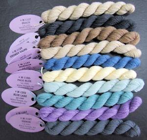 10x Needlepoint/Embroidery THREAD WILTEX Vineyard 1 ply Merino wool-mixed-VS78