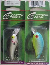 "2 - COTTON CORDELL Big O Lure - 2-1/4"" - Smokey Joe & Oxbow"