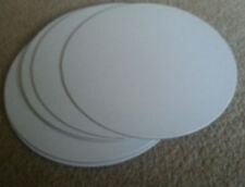 "5 x 6"" Single white P.E coated Cake Cards Boards"