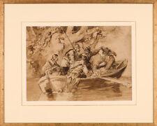 Listed Austrian Artist, Franz Gerasch (1826-1906) Watercolor