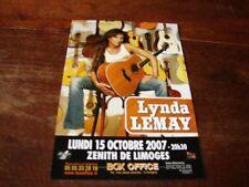 LYNDA LEMAY - RARE FLYER ZENITH !!!!!!!!!!!!!!!!!!