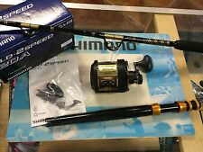 Set of 4 Shimano TLD 20II- 2 Speed Reels w/CHAOS STAR 30-50 Stand-up Rods COMBO