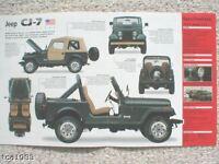 JEEP CJ-7/CJ7 SPEC SHEET/Brochure:1976,1977,1978,1979,.