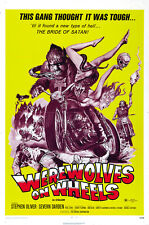 Werewolves on Wheels (1971) Stephen Oliver cult Bikers movie poster print