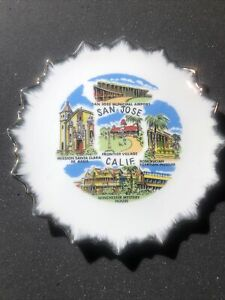San Jose Calif. Souvenir Plate FRONTIER VILLAGE WINCHESTER MYSTERY HOUSE Etc.