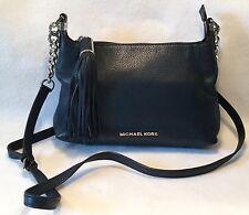 MICHAEL KORS Navy Blue Leather BEDFORD Medium CROSSBODY Handbag w/ Tassel & Bag!