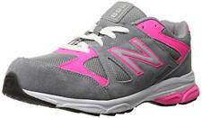 NEW BALANCE KJ888PKI 8 W NIB $45 GIRLS GREY PINK TENNIS SHOES KJ888 888