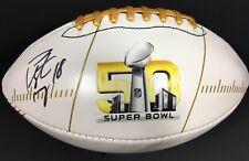PEYTON MANNING SIGNED AUTOGRAPHED SUPER BOWL 50 FOOTBALL DENVER BRONCOS COA  JSA a944693fe