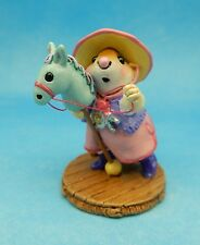 Wee Forest Folk CLIPPITY CLOP, WFF# M-290, PINK Retired Event Piece Cowgirl