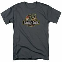 Jurassic Park Retro Rex T Shirt Mens Licensed Dinosaur Movie Tee Charcoal
