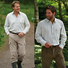 Mens Super Champion Ayr 100% Cotton Check Shirt Sizes M-3XL Work Fishing Outdoor