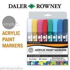 Daler Rowney Tout Simplement Peinture Acrylique Marqueur Stylo Set Couleurs