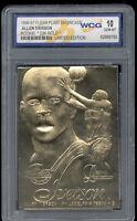 1996-97 Allen Iverson Flair Showcase Gold Rookie Gem Mint 10