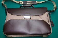 Brics Brown Leather & Nylon Briefcase