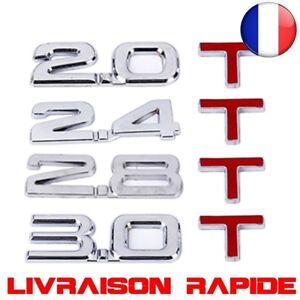 Voiture 3D Métal 2.0 3.0 2.4 2.8 T Logo Autocollant emblème Stickers Badge Auto
