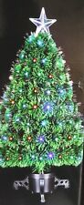 FIBRE OPTIC LED CHRISTMAS TREE - 80CM WITH COLOUR CHANGING LIGHTS LED'S