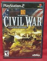 Civil War Nation Divided  PS2 Playstation 2 Game 1 Owner NEAR Mint Disc Complete