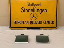 Mercedes Benz W114 W115 C114 Rear Pair Ashtrays  Genuine Leather Dark Green.