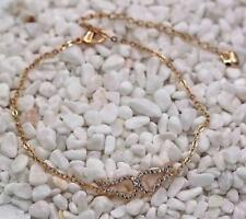Bracelet 18K Gold Filled Topaz Gemstone Cuff Hand Chain Swirl Hollow Wings Party