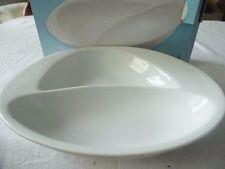 Snackschale Konfektschale Servierschale 2 geteilt Keramik Oval 25,5 x 20,5 x 4,5