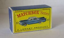 Repro box Matchbox 1:75 nº 57 Chevrolet Impala azul