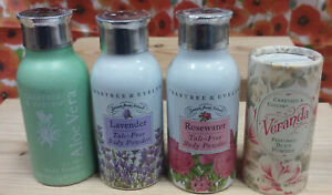 crabtree evelyn rosewater talc free  body powder  travel choose one