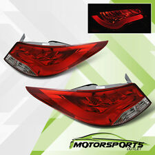 For 2011 2012 2013 2014 2015 Hyundai Accent Sedan BMW Style Red LED Tail lights