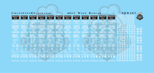 Green Bay & Western GBW 40' Wood Boxcar Car Data Decals N Scale