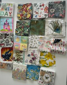 A Mixed Bundle of Paper Napkins & Tissues - For Decoupage Crafts