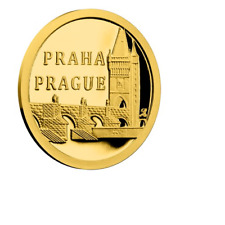 2017 NZ NIUE 0.5g 999.9 GOLD Proof Coin, Charles Bridge Prague