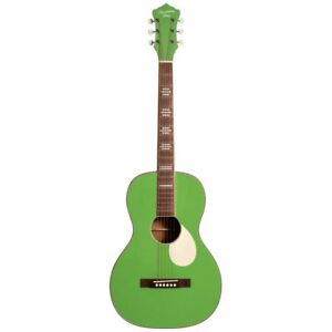 Recording King RPS-7-GN Dirty 30s Parlor Acoustic Guitar, Revolution Green