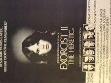 m4-8a ephemera 1970s film advert the exorcist 2 the heretic linda blair