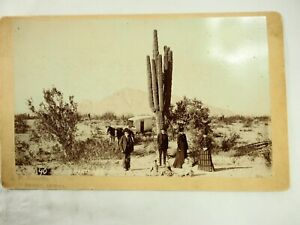 Scarce J.P. Rhodes 19th Cent Cabinet Card Photo 4 miles West of Downtown Phoenix