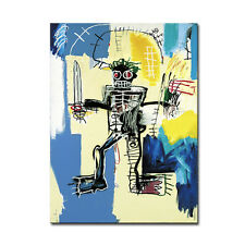 "Jean-Michel Basquiat ""Warrior,1982"" HD print on canvas large wall picture 36x24"""