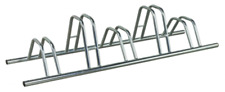 5 Section Dual Height Flat Top Floor Mounted Cycle Rack by BWT