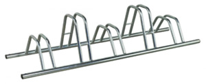 5 Section Dual Height Flat Top Floor Mounted Cycle Rack/Cycle Storage
