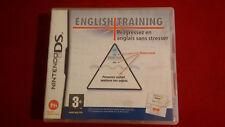 English Training Nintendo DS état parfait complet !