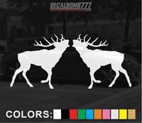 Set of 2 ELK  Decals Stickers Turbo Truck Hunt Race rzr Fish Kayak Diesel Car