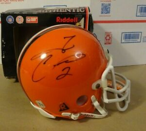 Autographed TIM COUCH & KEVIN JOHNSON Signed Cleveland Browns Mini Helmet