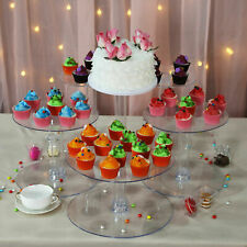 6 Tiers ACRYLIC Clear CAKE STAND Wedding Birthday Cupcake Display Cake Tower