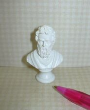 Miniature White Resin Bust of Michelangelo: DOLLHOUSE Miniatures 1:12