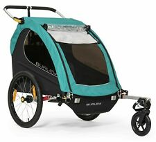 Burley Encore X Kids Bike Bicycle Trailer Double Stroller Turquoise New 2019