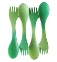 """Color Changing 3 in 1 Spoon, Fork, Knife Spork (Set of 4) 7"""" Camping"""