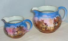 2 RARE EARLY VINTAGE SYLVAC SURRY SCENERY JUG SIZE 2 & 4 1937 - 1940 11 & 9cm HI