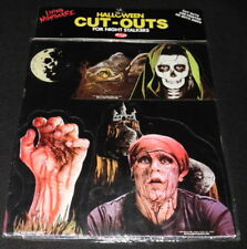 Vintage 1980s Fun World Living Nightmare Halloween Cut Outs Skeleton Zombie