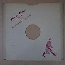 "12"" 78rpm gramophone record sleeve ALLEN & WALKER ilkley"